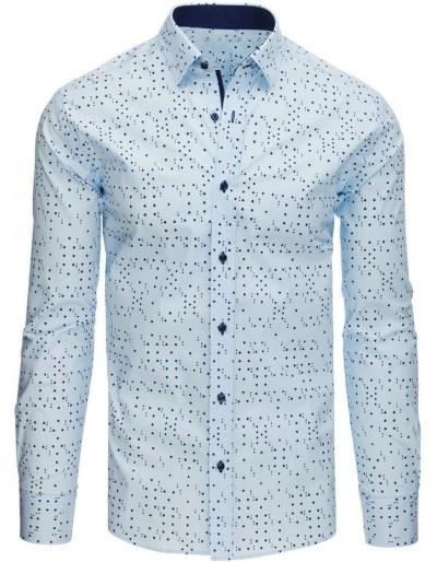 Modré pánské elegantní tričko DX1523