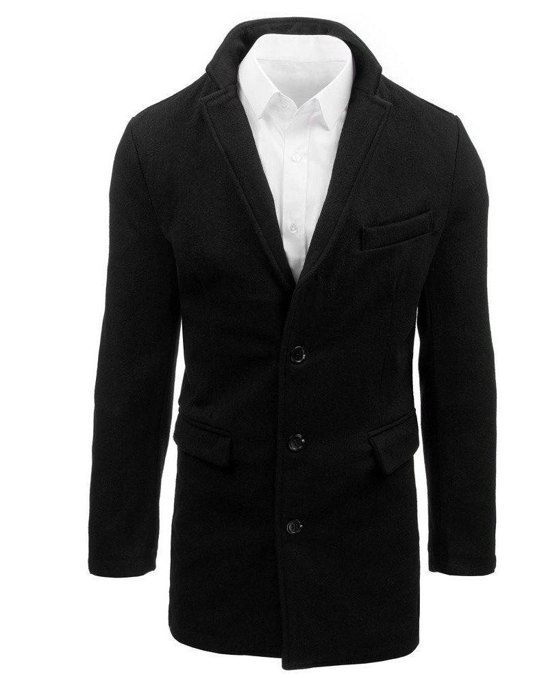 Pánský černý kabát CX0380