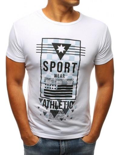 Bílé pánské tričko RX2963 s potiskem