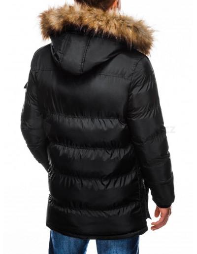 Men's winter parka jacket C355 - black