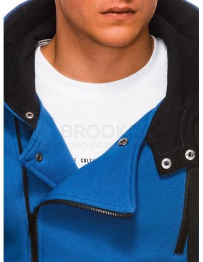 Men's zip-up hoodie B297 - blue