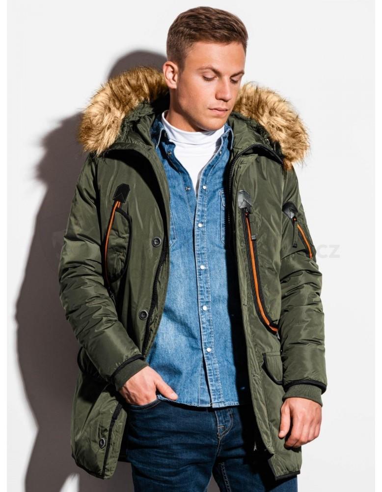 Pánská zimní bunda C369 - khaki