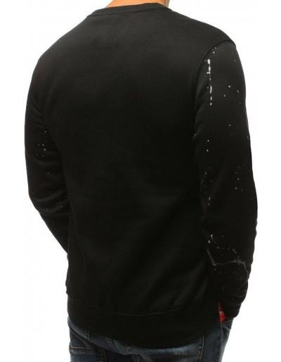 Černá pánská mikina bez kapuce s potiskem BX3614