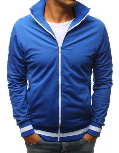 Modrá pánská mikina na zip bez kapání BX3648