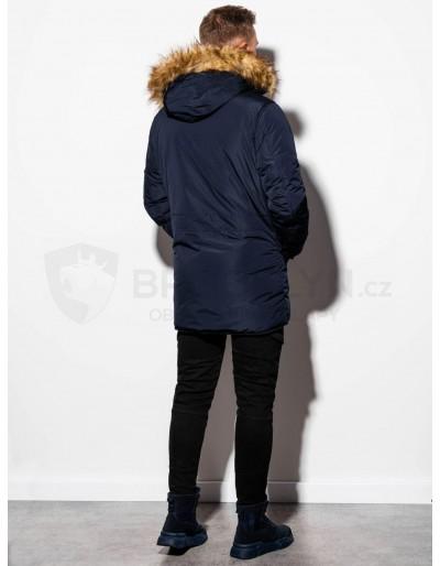 Men's winter parka jacket C369 - navy