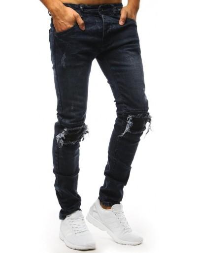 Spodnie jeansowe męskie granatowe UX1432