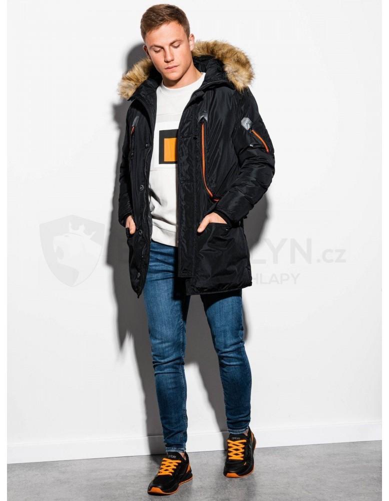 Pánská zimní bunda C369 - černá