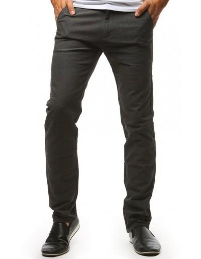 Grafitové pánské chino kalhoty UX1446