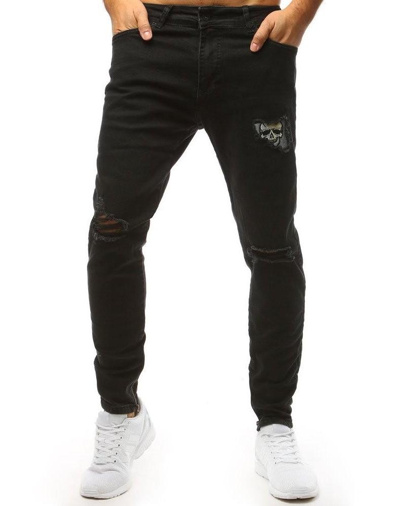 Pánské černé džínové kalhoty UX1472