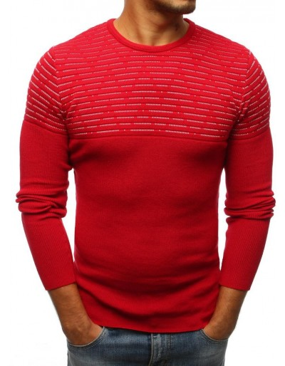 Červený pánský svetr WX1076