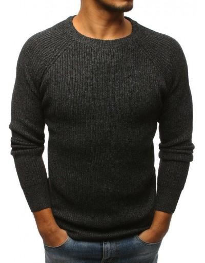 Grafitový pánský svetr WX1096