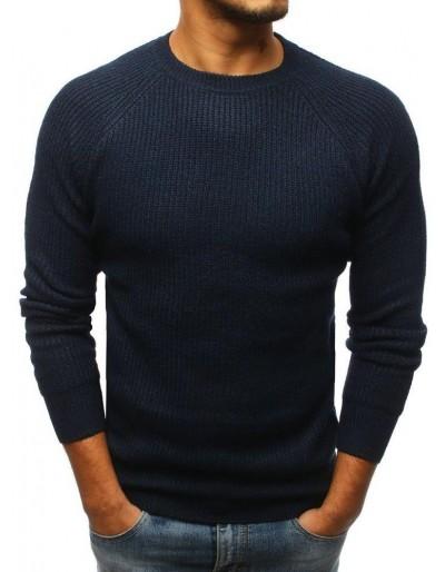 Pánský tmavě modrý svetr WX1097