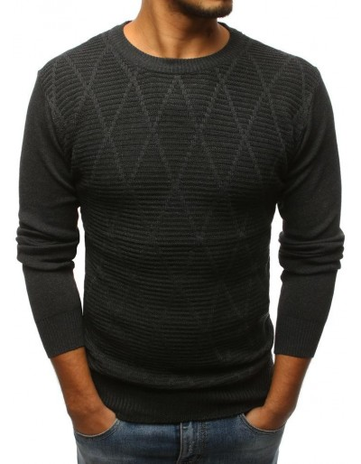 Grafitový pánský svetr WX1114