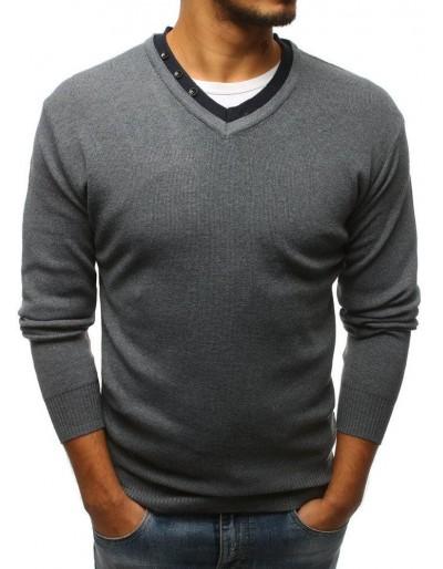 Šedý pánský svetr WX1125