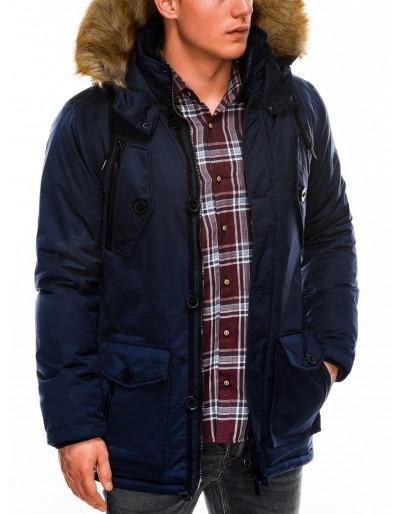 Men's winter parka jacket C361 - navy
