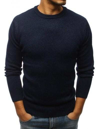 Pánský tmavě modrý svetr WX1149
