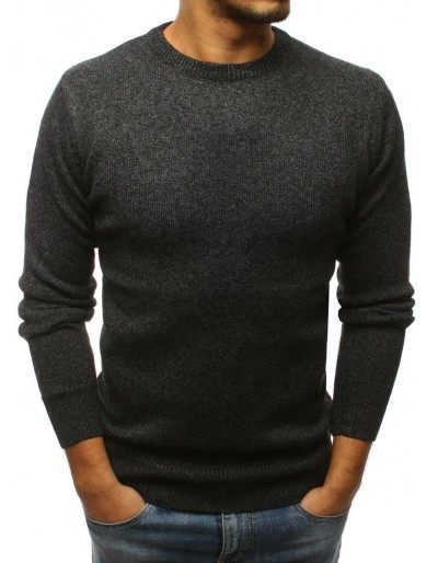Grafitový pánský svetr WX1151