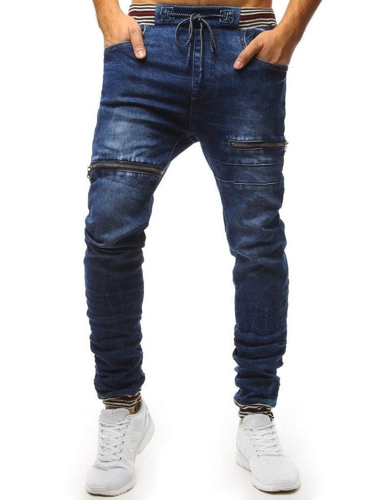 Pánské modré džínové běžecké kalhoty UX1481