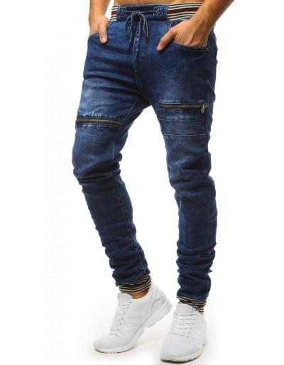 Spodnie joggery jeansowe męskie niebieskie UX1481