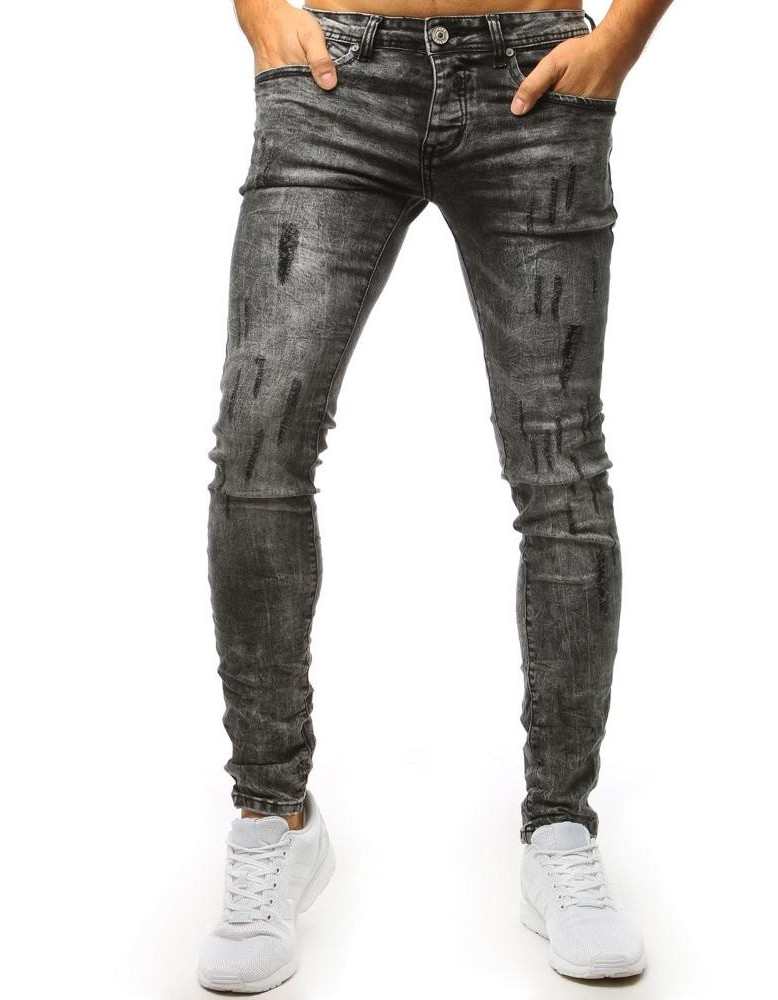 Šedé pothané džíny UX1500