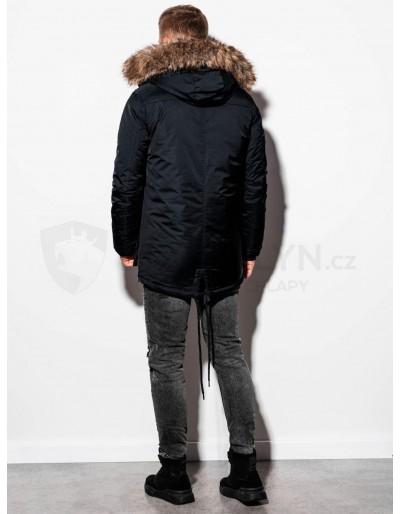 Men's winter parka jacket C361 - black