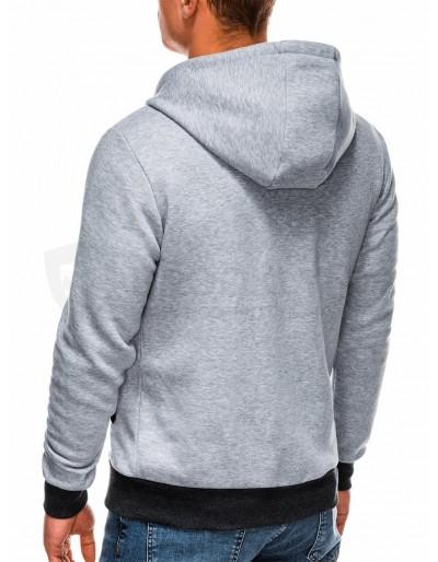 Men's zip-up hoodie B297 - grey