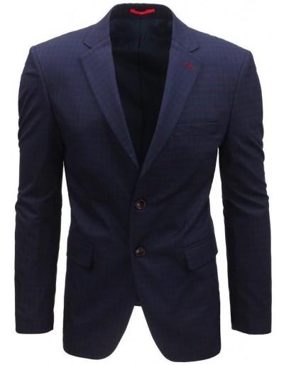 Námořnická modrá pánská kostkovaná bunda MX0396