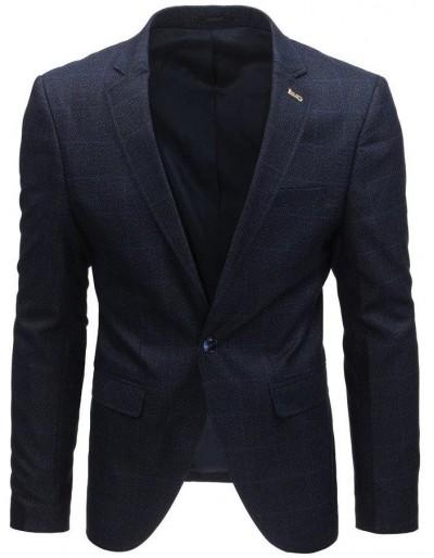 Námořnická modrá pánská kostkovaná bunda MX0432