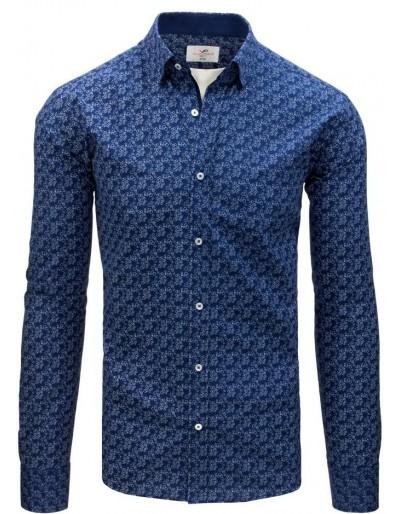 Modré pánské elegantní tričko DX1546