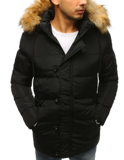 Pánská prošívaná zimní bunda černá TX2515