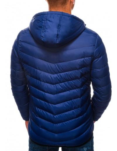 Men's mid-season quilted jacket C356 - navy