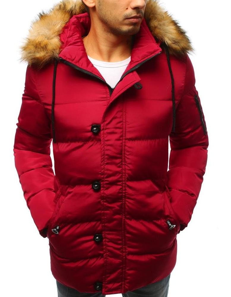 Červená pánská prošívaná zimní bunda TX2516