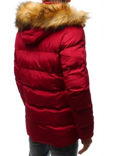 Kurtka męska zimowa pikowana czerwona TX2516