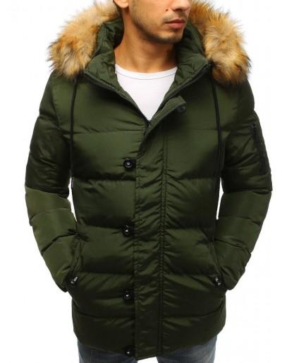 Pánská prošívaná zimní bunda TX2517 zelená