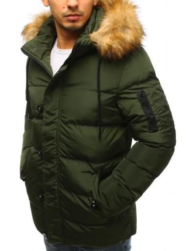 Kurtka męska zimowa pikowana zielona TX2517