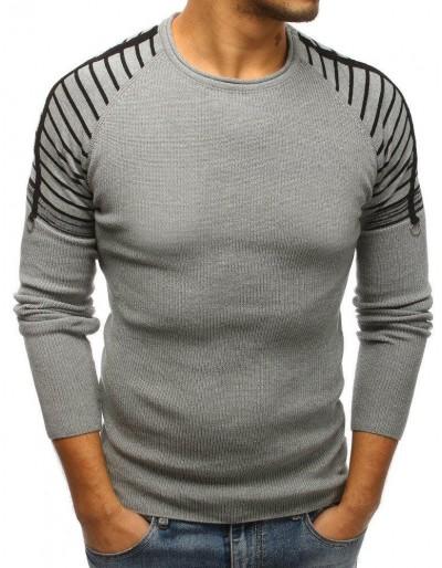 Šedý pánský svetr WX1217