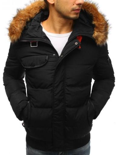 Pánská prošívaná zimní bunda černá TX2526