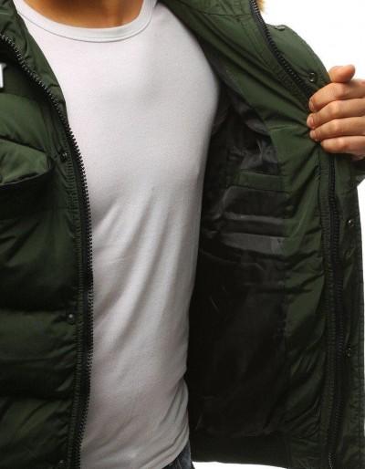 Kurtka męska zimowa pikowana zielona TX2527