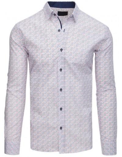 Bílé elegantní pánské tričko DX1560