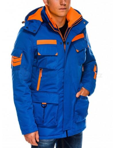 Pánská zimní bunda C379 - modrá