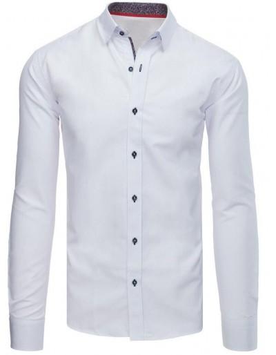 Bílé pánské elegantní tričko DX1580