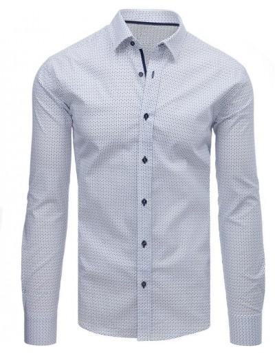 Bílé elegantní pánské tričko DX1608
