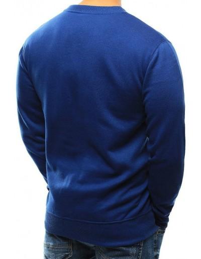 Modrá pánská mikina bez kapuce BX3695