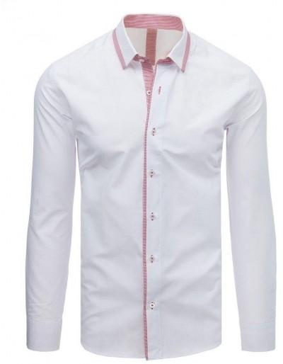 Bílé pánské elegantní tričko DX1617