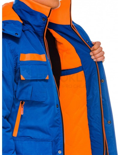 Men's winter jacket C379 - blue