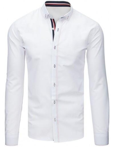 Bílé pánské elegantní tričko DX1630