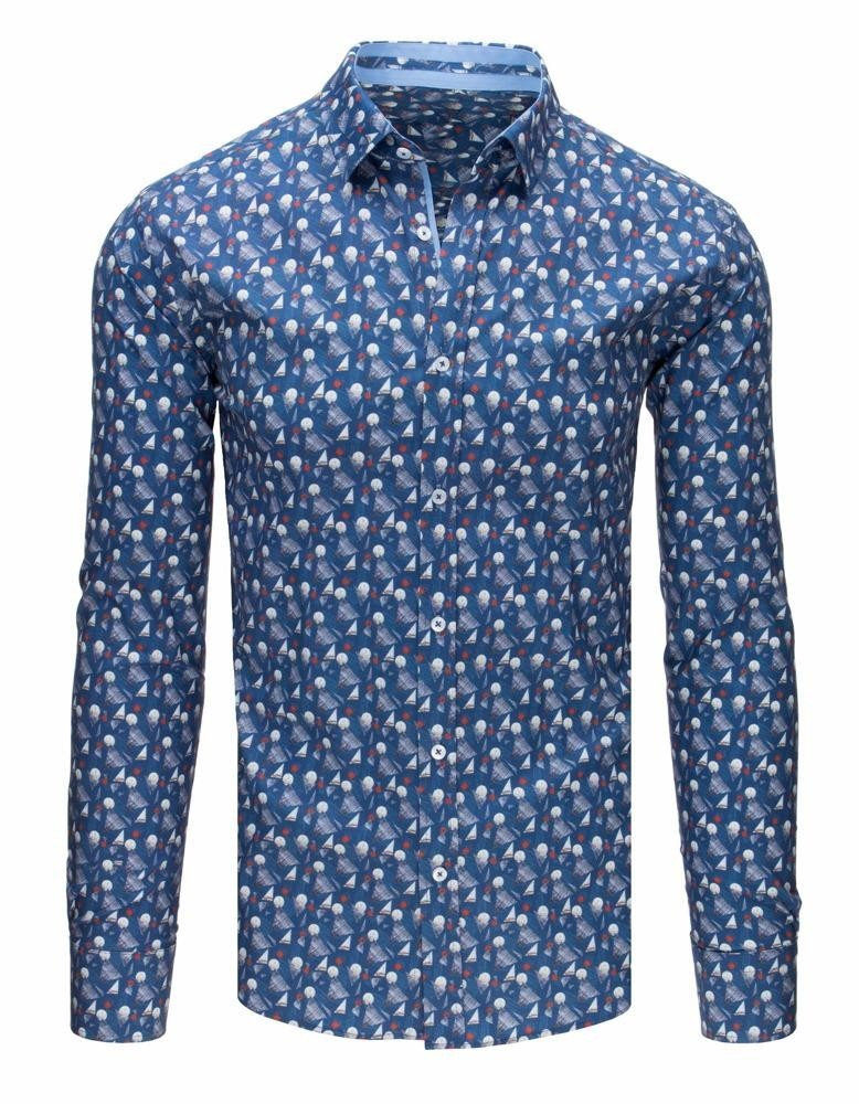 Pánská elegantní džínová košile DX1644
