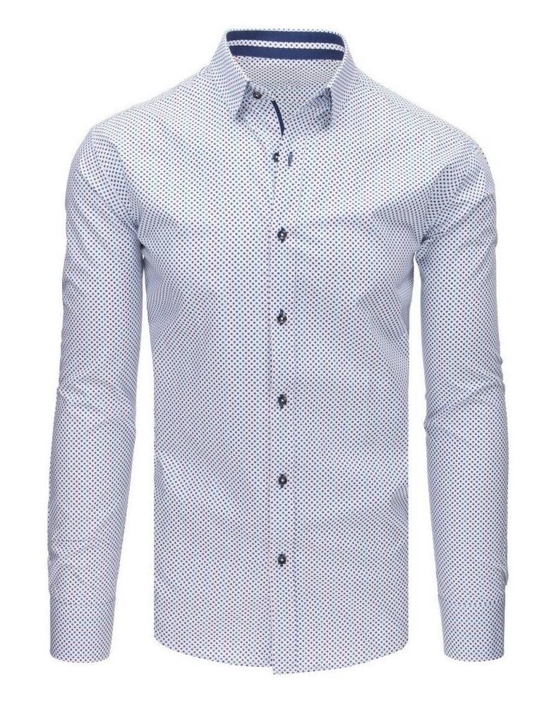 Bílé elegantní pánské tričko DX1647