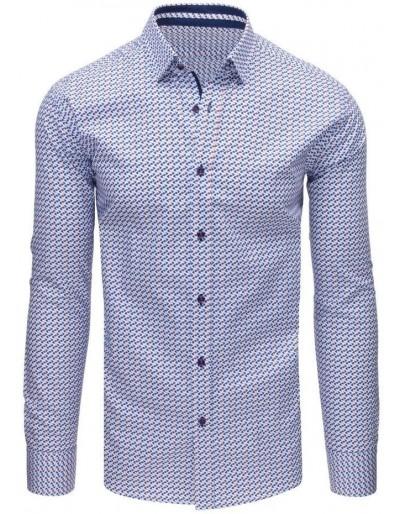 Bílé elegantní pánské tričko DX1650