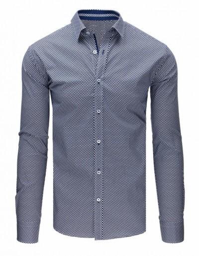 Pánská elegantní tmavě modrá košile DX1669